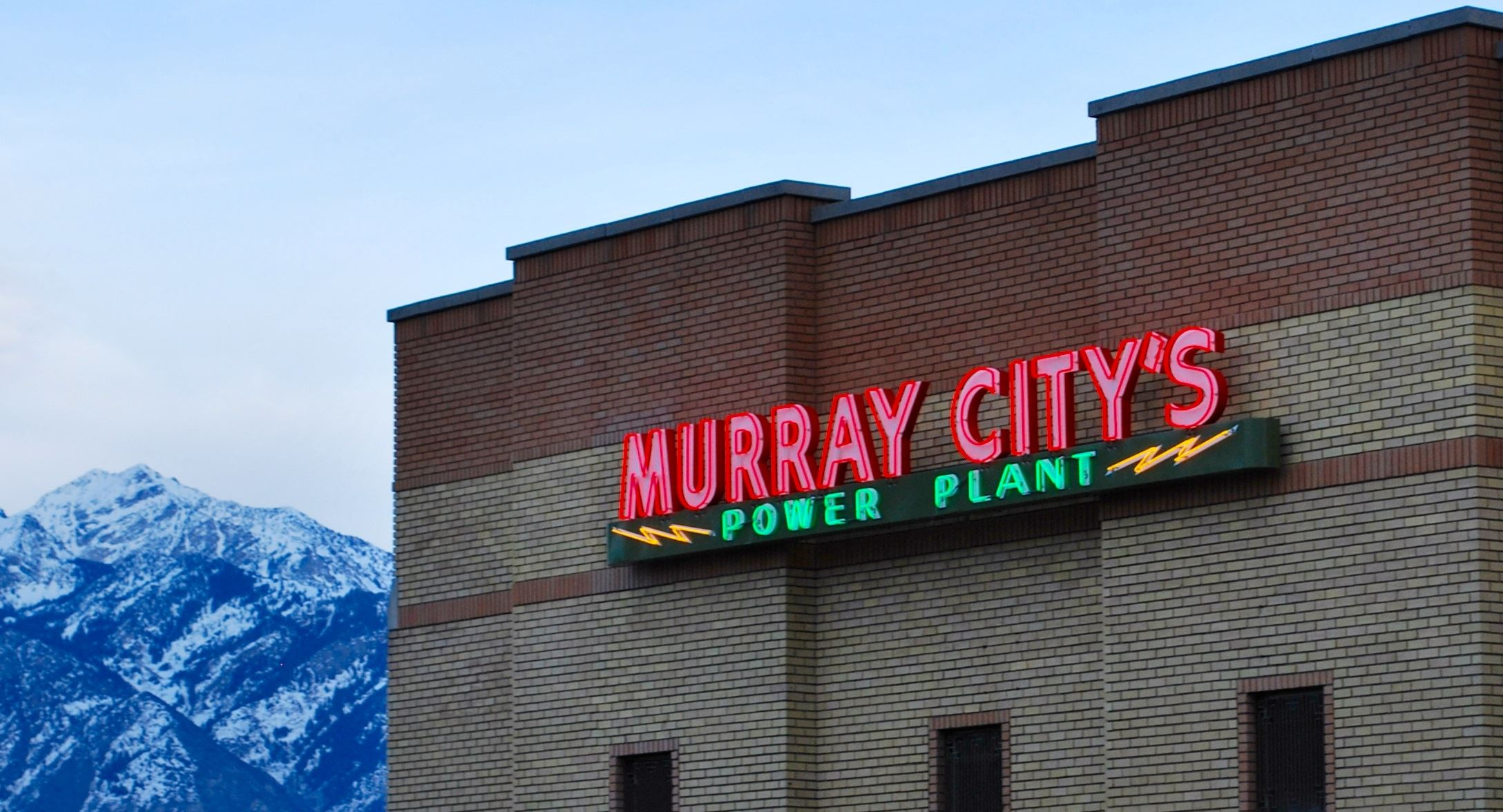 Murray City's Power Plant Neon Sign